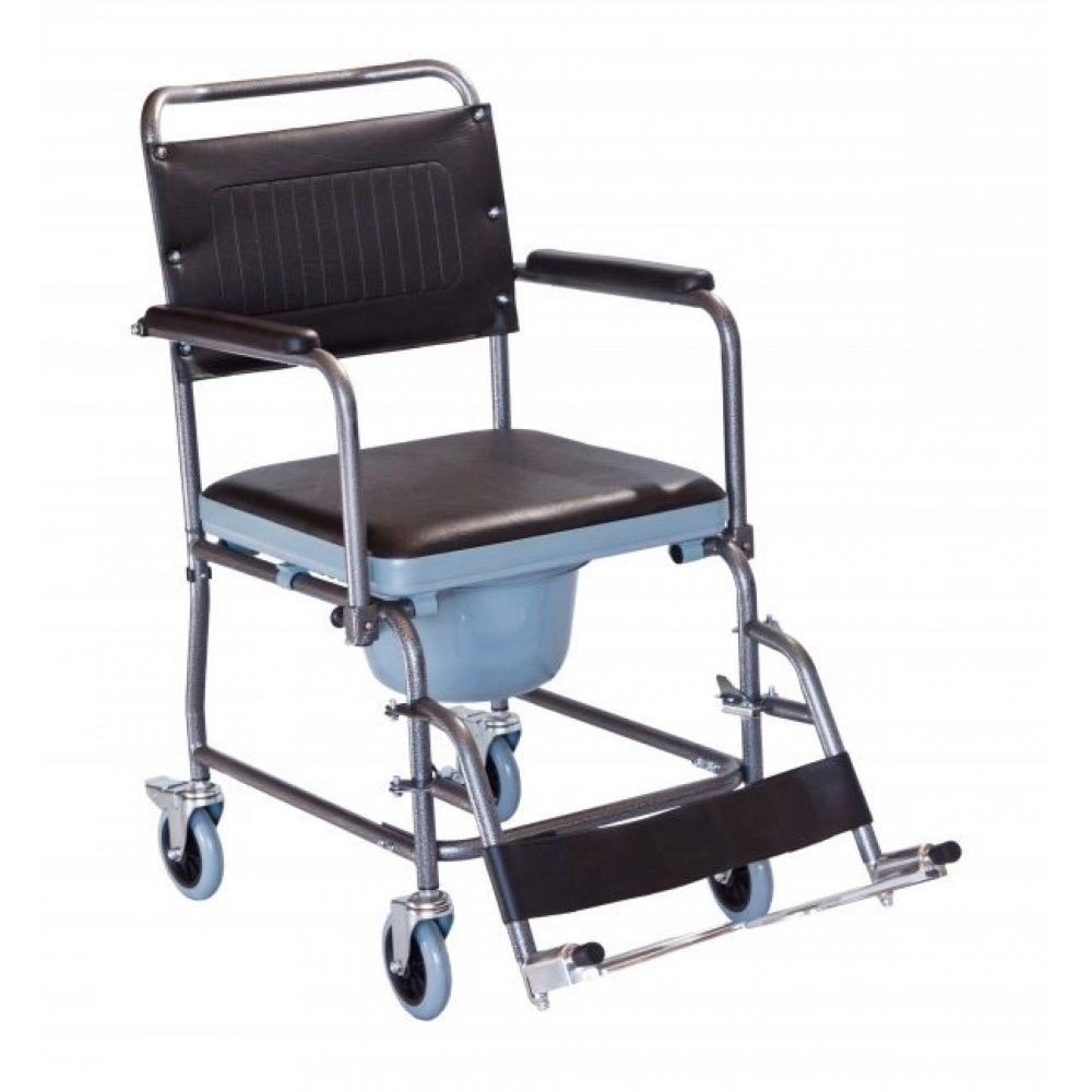 Wheelchair with commode