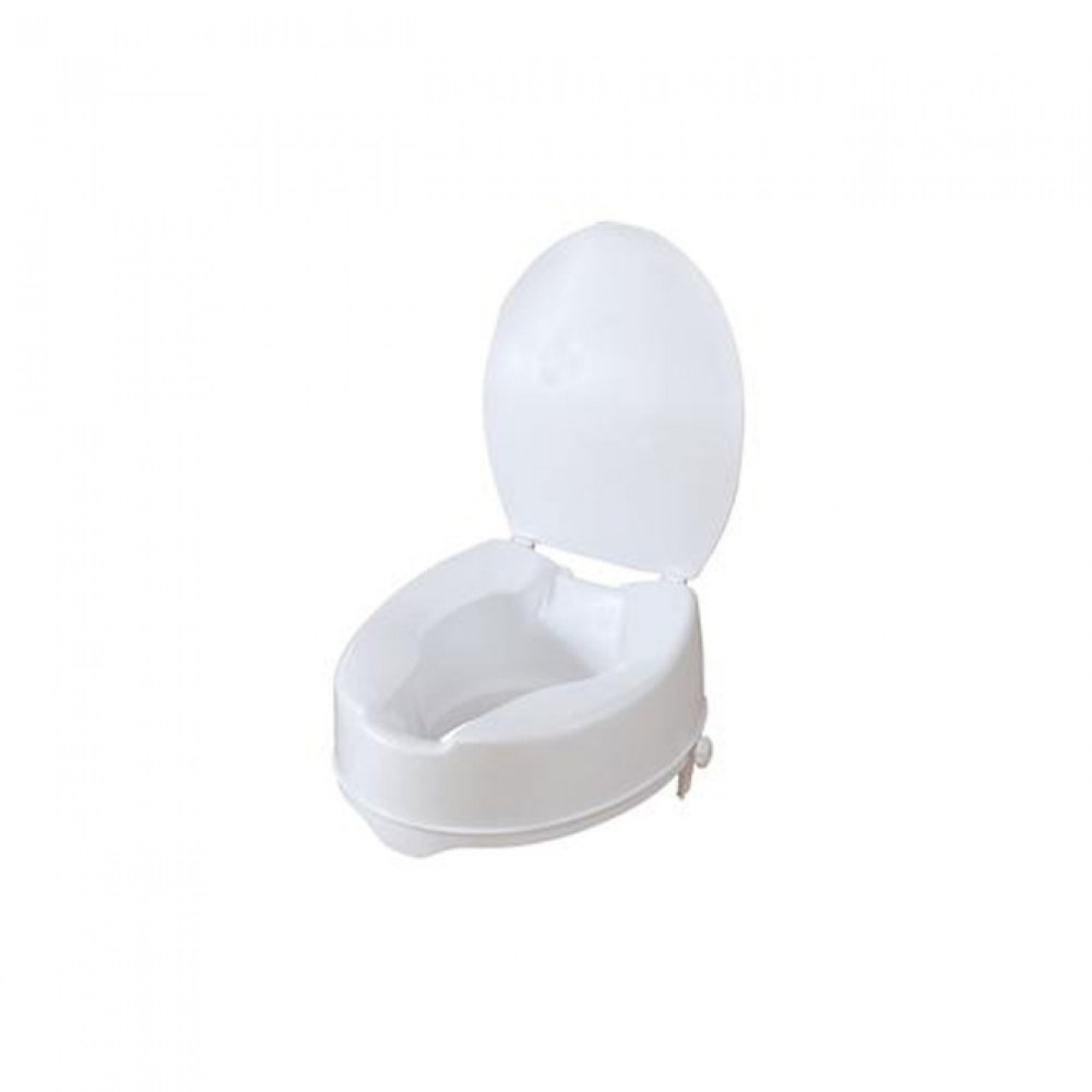 Raised Toilet Seat 15 cm with clamps and lid