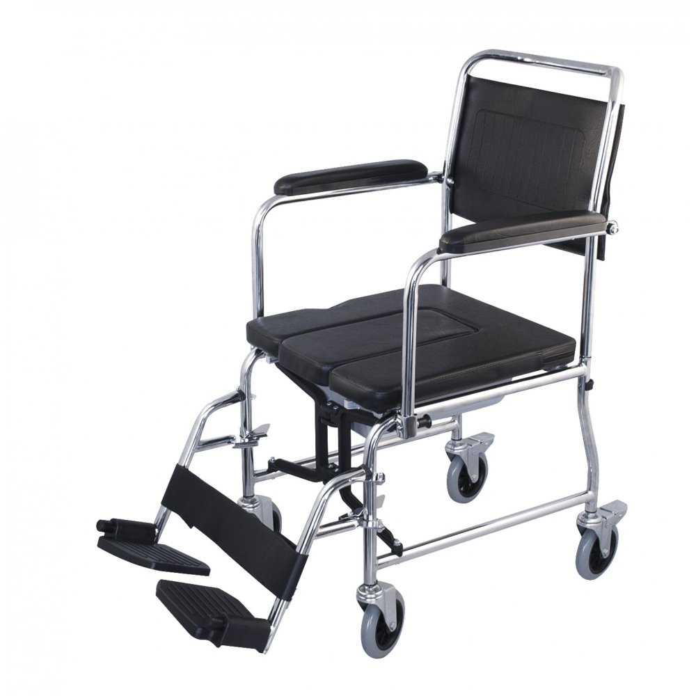 Wheelchair simple basic with commode