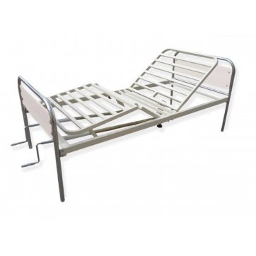 Oxy Care Metal Two Cranks Homecare Bed (beige)
